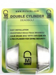 Double cylinder deadbolt