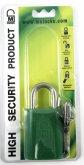 40mm Green padlock