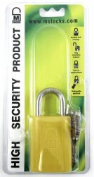 40mm Yellow padlock