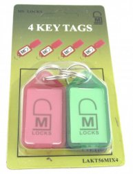 4 pack of 56mm key tags