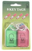 8 pack of 56mm key tags