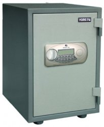 Electronic fire resistant safe