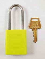 Yellow Safety Lockout Padlock