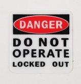 "Safety Lockout Sticker - ""Do Not Operate"""